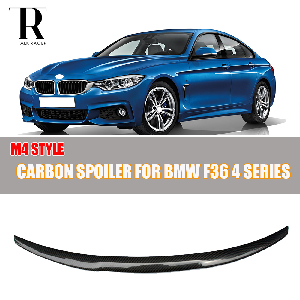 F36 Gran Coupe Carbon Fiber Rear Wing Spoiler for BMW F36 420i 428i 435i 418d 420d 430d 435d 4-Door 2014 2015 2016 M4 Style 2005 2011 e92 performance style carbon fiber rear lip spoiler for bmw 3 series e92 coupe and e92 m3 316i 318i 320i 323i