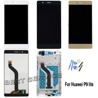 100 NEW For Huawei P9 Lite LCD Display With Touch Screen Digitizer Assembly Replacement Parts Tools