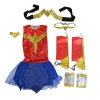 Selegere 30pc Wonder Woman Cosplay Deluxe Child Dawn Of Justice DC Superhero Wonder Woman Halloween Costume