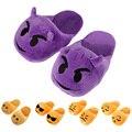 Emoji Slippers Cartoon Sweet Warm Plush Slipper Expression Men Women Slippers Spring/Autumn/Winter House Shoes One Pair