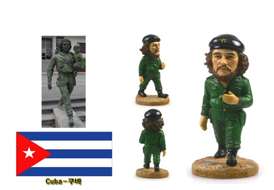Hand-painted Cuba Che Guevara Ramon Creative Resin Crafts World Celebrity Statue Tourism Souvenir Gifts Collection Home Decor