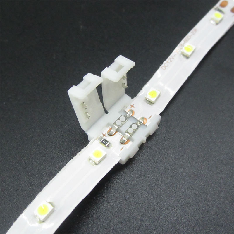 50pcs 3528 LED strip connector clip 8mm 2 pin, mark polarity no soldering pcb connector clip, free shipping nafisa farooq and nasir mehmood cicer arietinum and vigna mungo antifungal ca afp gene and assays