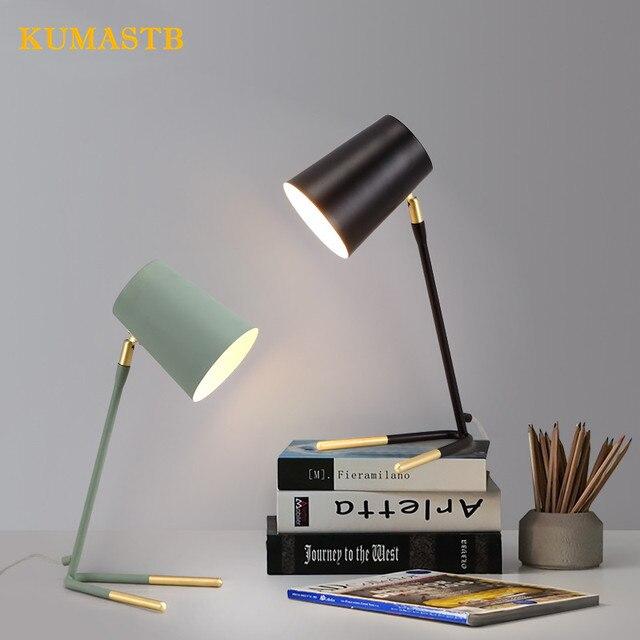 Modern Simple Metal Table Lamp Nordic Minimalist Desk Lighting Bedroom Lampe de chevet Study Eyecare Table.jpg 640x640 5 Frais Lampe De Chevet Metal Design Kgit4