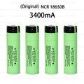6 unids nuevo original 18650 batería recargable 3.7 v batería li ion batería 18650 para panasonic ncr18650b 18650