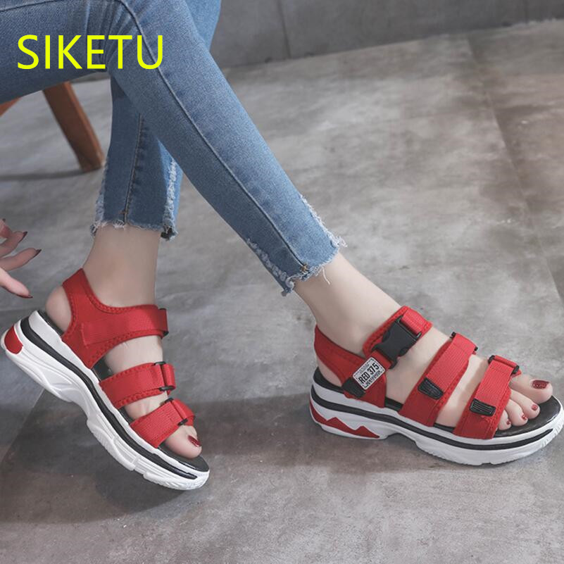 SIKETU Free shipping Summer sandals Fashion casual shoes sex women shoes flip flop Flat shoes Flats l129 flip flop Simple women shoes 2018 summer breathable fashion lady s casual shoes lace up girls handmade women woven shoes flip flop footwear 599w