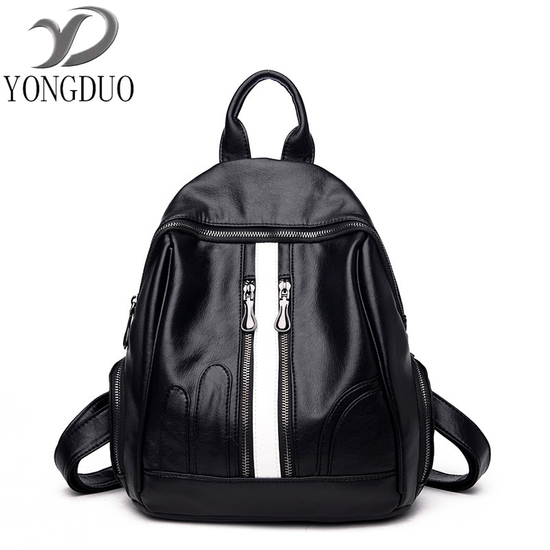 New 2017 100% Real Soft Genuine Leather Women Backpack Woman Korean Style Ladies Strap Laptop Bag Daily Backpack Girl School 2017 real 100
