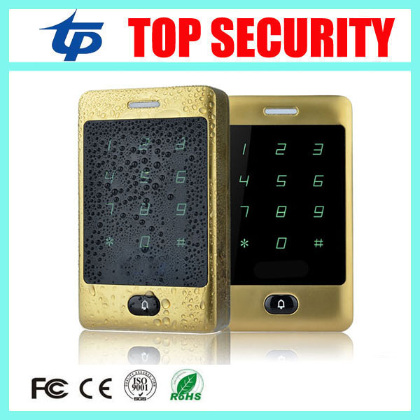 Standalone access control card reader 8000 user surface waterproof touch keypad single door 125KHZ RFID card access controller rfid ip65 waterproof access control touch metal keypad standalone 125khz card reader for door access control system 8000 users