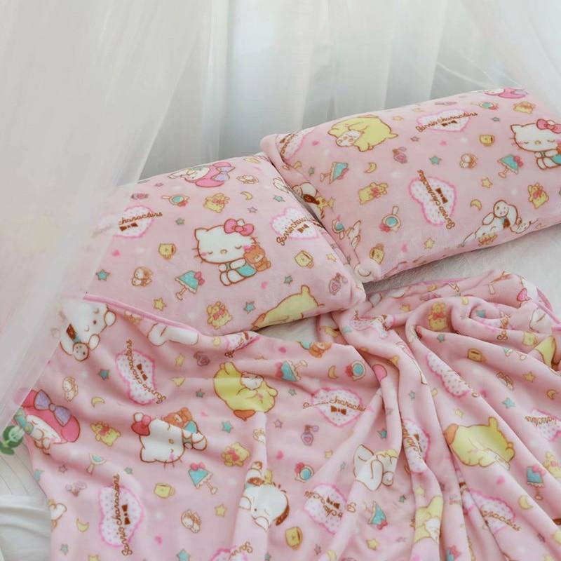 Kawaii Cartoon Soft Blanket & Pillow Case 1