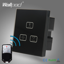 Best Quality Remote 3 Gang Dimmer Switch Wallpad Black Glass Remote 3 Gang Touch Panel Dimmer Dimming Control Switch 2 Way 2 lamps dimmer touch switch 110v 250v wallpad glass led 2 gang dimmer control wall smart switch panel eu uk