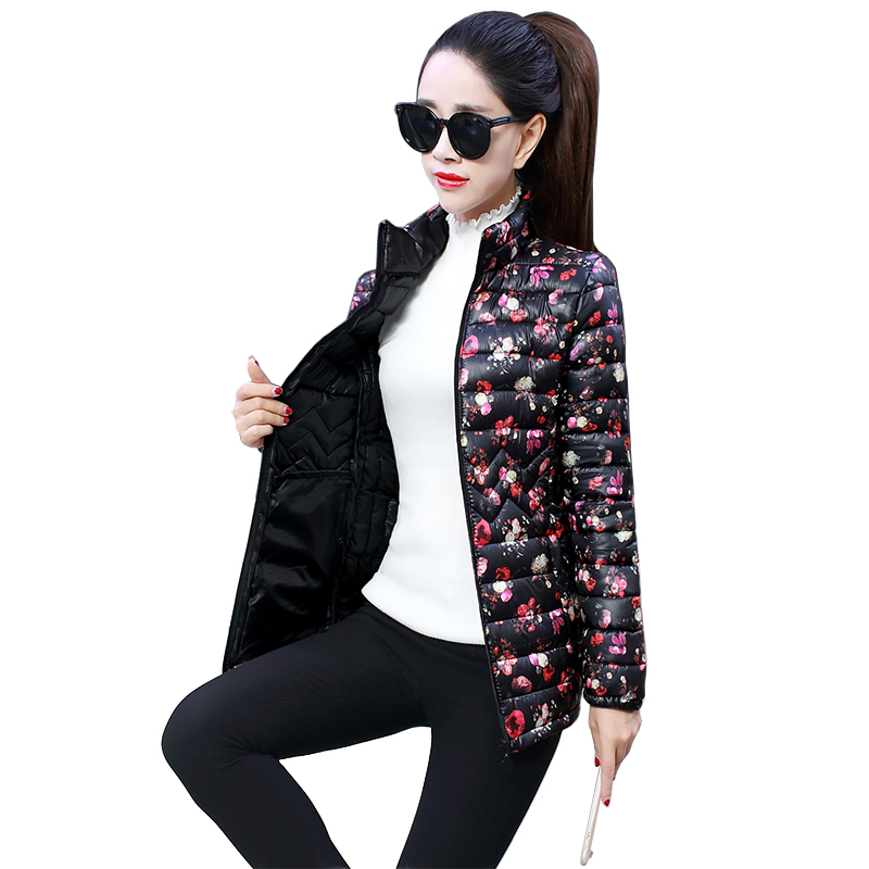 Fashion Print Winter font b Jacket b font Women 2019 New Arrival 6XL Plus Size Parkas
