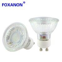 Foxanon GU10 220V 3W Led Spotlight 2835 SMD 9Leds Lights Lamps 120 Degrees Lens GU 10 Spot Light Bulb For Luxury Hotel 10Pcs
