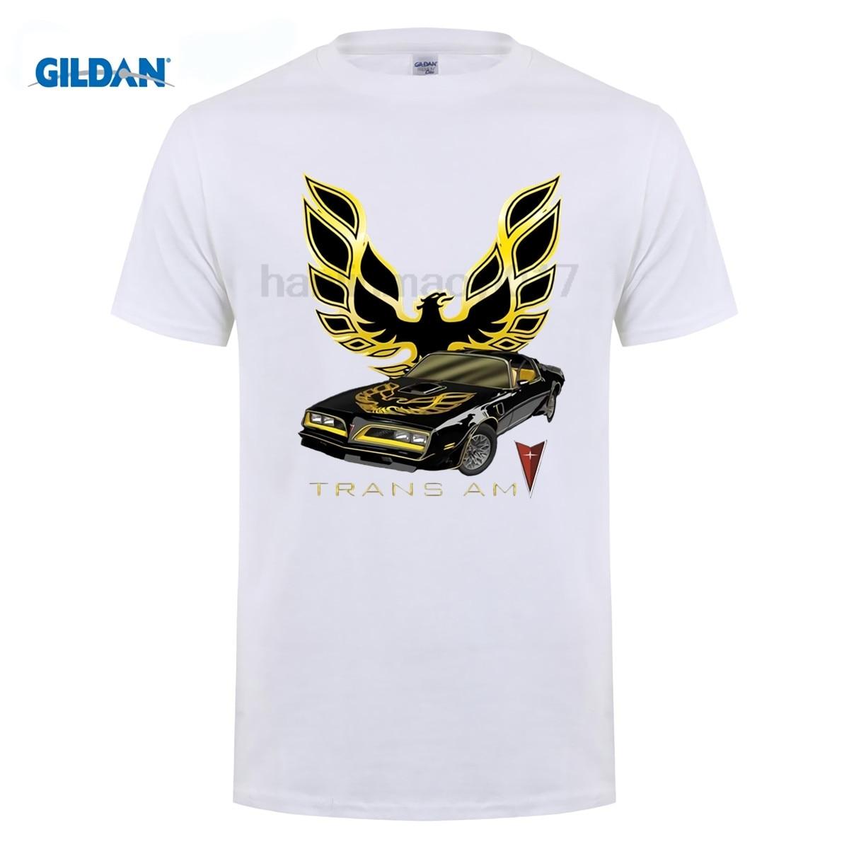 Summer New Men T-Shirt Trans Am Automobile Car white T Shirt asian S-XXXL Size Mens Shirts Short Sleeve Trend Clothing