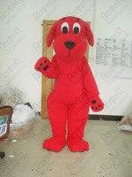 Красный мех собаки маскарадный костюм Лидер продаж красная собака Костюмы EVA глава с вентиляторами