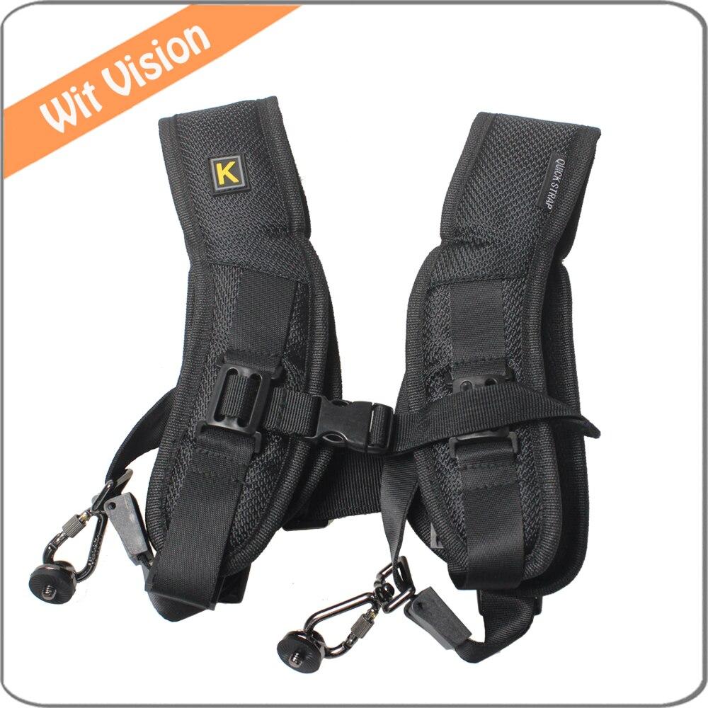 Quick Rapid Dual Shoulder Strap for 2 Digital SLR DSLR Sony Nikon Canon