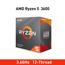 New amd ryzen 5 3600 3.6GHz 6 Core 12 Thread 65W Original Processor Socket AM4 Desktop packge with a Wraith Stealth radiator fan