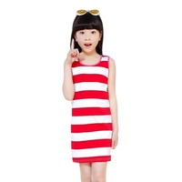 Baby Girls Dress Brand Summer Beach Style Striped Party Backless Dresses For Girls Vintage kids Toddler Girl Clothing 2~12Yrs