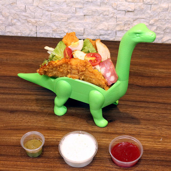 Tanystropheus Dinosaur Taco Holder Prehistoric Mexican Food Taco Stand Kitchen Pie Tools for Taco Tuesdays and Dinosaur Parties toy story costumes adult