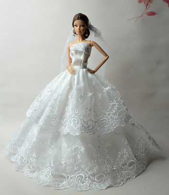 59b2a139c456 Κούκλες   παραγεμισμένα παιχνίδια Cheap wedding dress for barbie doll dress  up for Barbie princess dress clothes