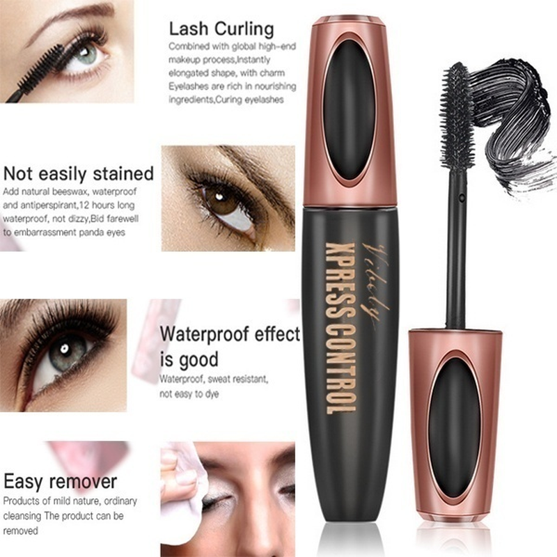 1Pcs Waterproof 4D Makeup Eyelash Mascara Eyelash Makeup Silk Fiber Lash Extension Lash Mascara Tubes Fashion Ladies Cosmetics 3