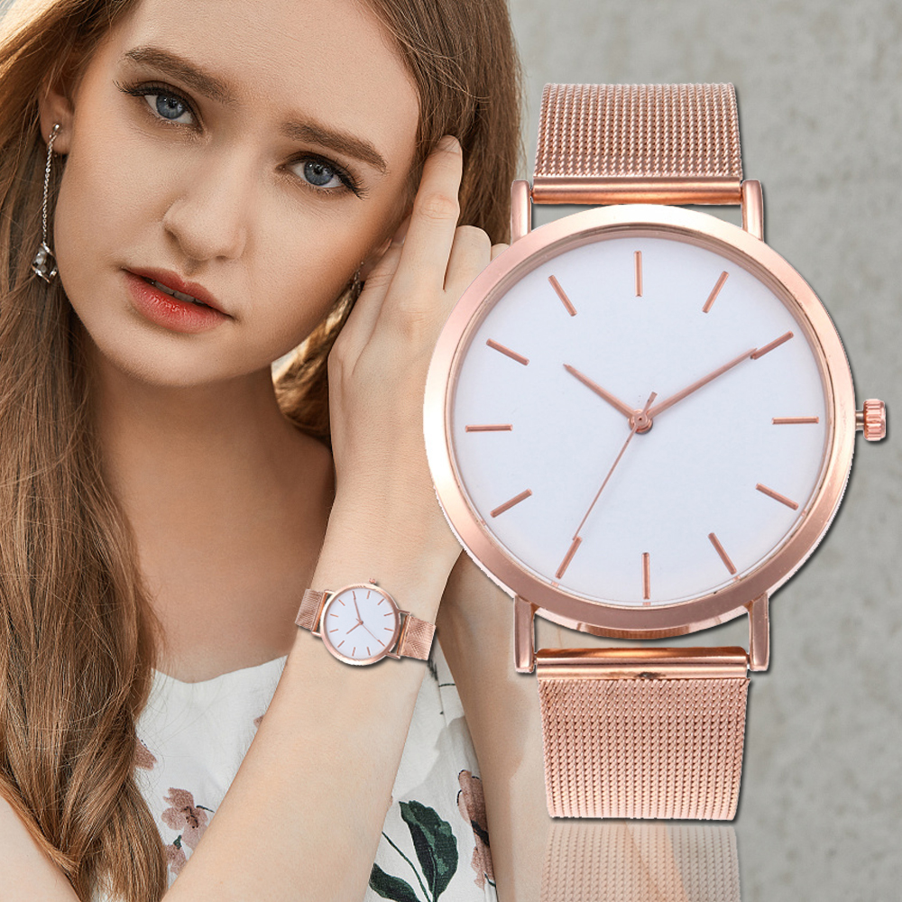 2018 Fashion Women Watches Personality Romantic Rose Gold Wrist Watch Stainless Steel Ladies Clock montre femme reloj mujer guou luxury ladies watch rose gold turntable watch women watches stainless steel wrist watches clock montre femme reloj mujer