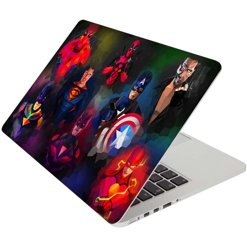 Super Heros Family Comic Full Cover Skin for Macbook Pro Air Retina 11 12 13 15 inch Mac Book Protective Laptop Decal Sticker