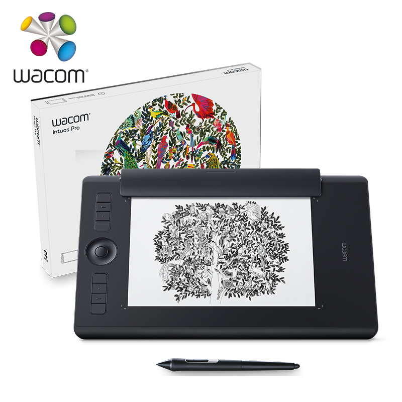Wacom Intuos Pro Digital Graphic Drawing Tablet for Mac or PC, Large, (PTH-860) NEW MODEL 8192 Pressure Levels