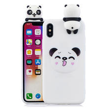 3D Cute cartoon doll unicorn dog cat silicone case for  Iphone XR cases soft tpu back cover fundas hoesje coque etui kryt tok