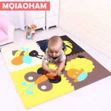 2 CM Thick 60*60CM 4 pcs Baby Floor Mat Foam Puzzle Mat Exercise Tiles Non slip Foam Play Mat EVA Foam Carpet Kids Game Pads(China)