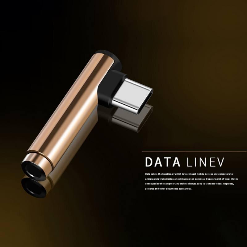 Typec to 3.5mm jack Audio Adapter Headphone Adapter Type-C AUX Audio Splitter for xiaomi 6 Letv / 2.2 pro / max 2 / pro 3