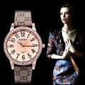 Womage rhinestone de lujo relojes de las mujeres relojes correa de cuero reloj de señoras de las mujeres reloj relogio feminino reloj mujer montre femme
