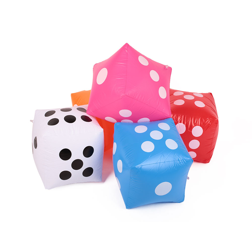 Inflatable 30X30cm Giant PVC Air Cube Number Dice For Toy Party Bar Game S