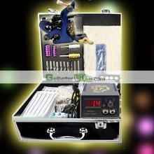 USA Dispatch Complete Beginner Tattoo Kit 1 Tattoo Machine Gun Needles LCD Power Tips Equipment set Supplies