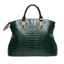 Genuine leather handbag Crocodile women shoulder bag vintage Ladies Large Tote