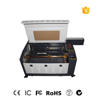 Free Shipping 4060 with CO2 80W 60W laser cutting machine and laser engraving and cutting machine with linear guide