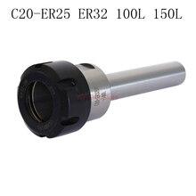 C20-ER25-150L C20-ER32-100L  C20-ER32-150L Collet Chuck Fraisage CNC Puissante Force De Serrage