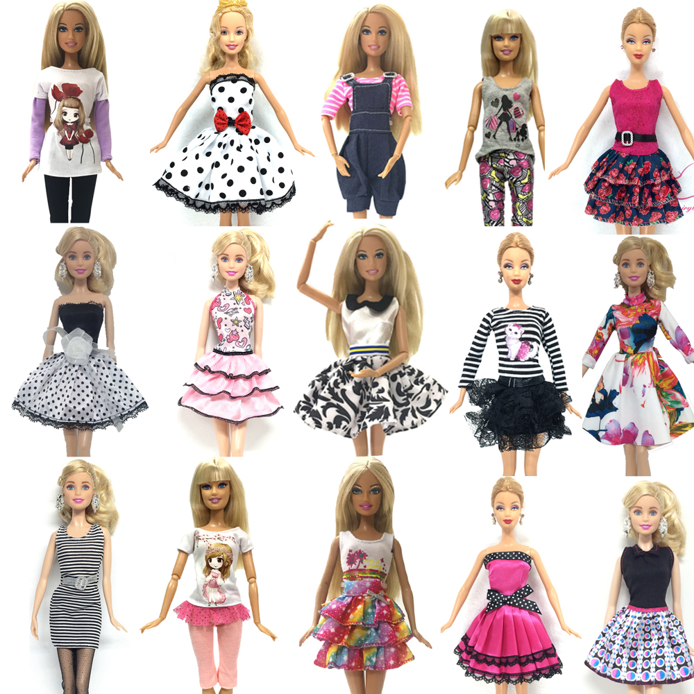 NK 2018 Newest Doll Outfit Beautiful Handmade Party ClothesTop Fashion Dress For Barbie Noble Doll Best Child Girls'Gift