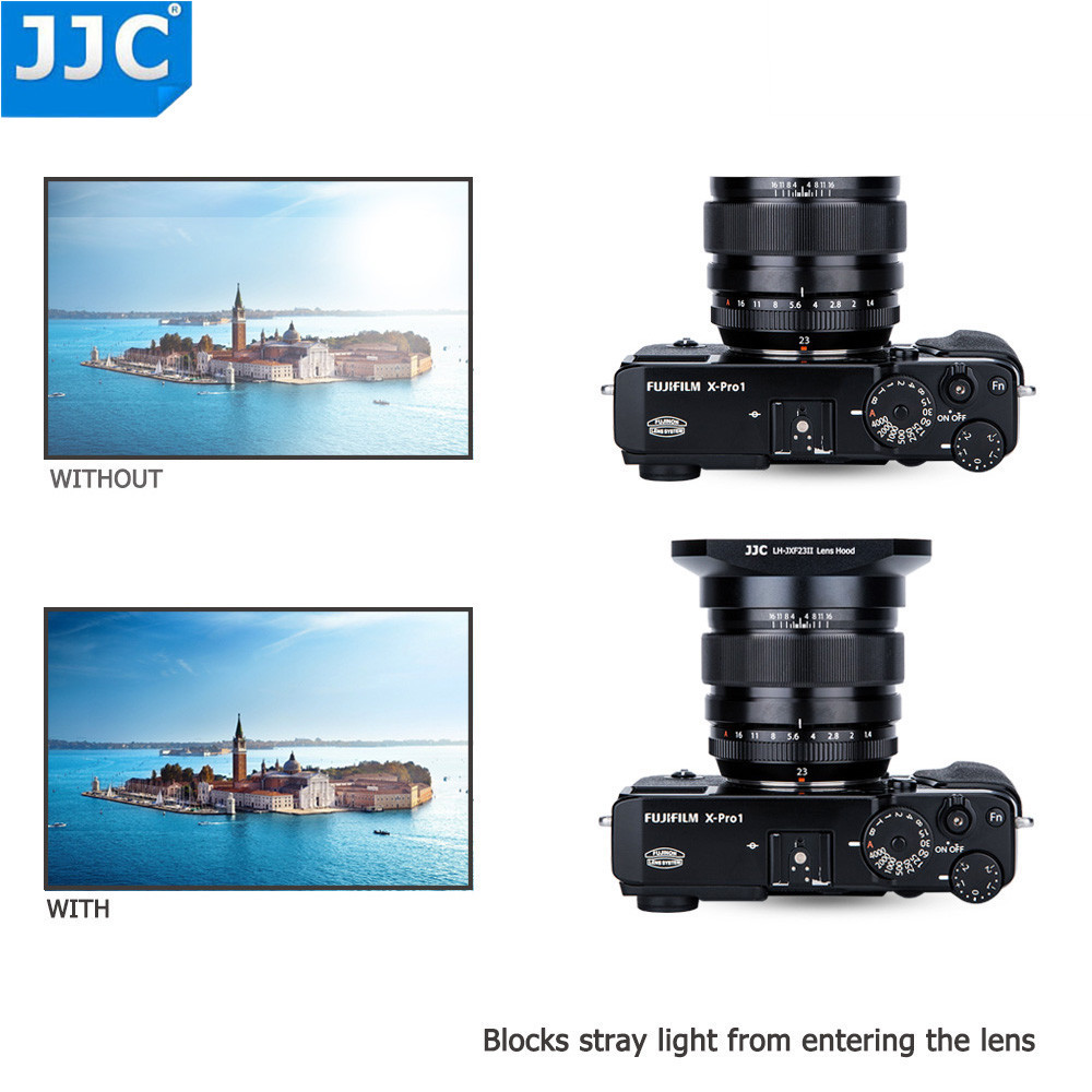 JJC Square Camera Lens Hood 62mm Thread Size for FUJINON LENS XF 23mm F1.4 R/XF 56mm F1.2 R/XF 56mm F1.2 R APD Replaces LH-XF23