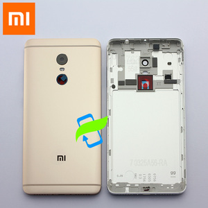 Image 3 - Original Battery Back Cover For Xiaomi Redmi Note4 Back Housing Rear Door Case For Redmi Note 4 Power Volume Buttons+Camera Lens