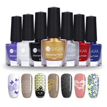 UR SUGAR 6ml Nail Stamping Polish Colorful Nail Art Plate Printing Polish Nail Lacquer Varnish 12 Colors