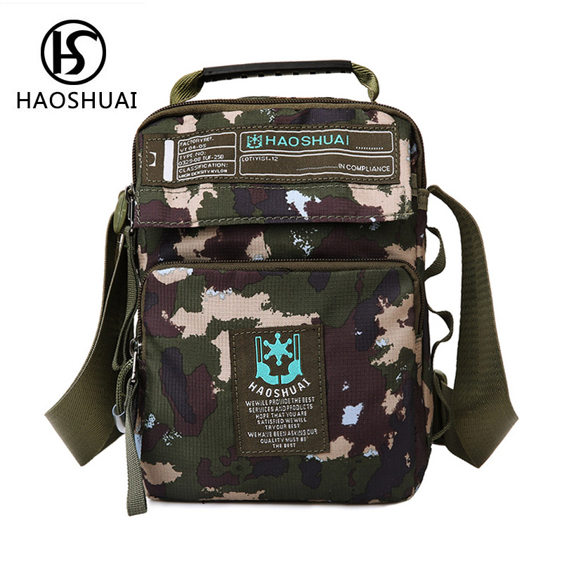 5afdb2f5 US $15.78 |Camouflage nylon bag waterproof 2017 new style high men  crossbody bags for women small sling bag man shoulder pouch bags for men-in  ...