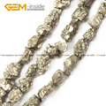 Natural Pyrite Chip Beads For Jewelry Making Freeform 3-18mm 15inches DIY Jewellery FreeShipping Wholesale Gem-inside