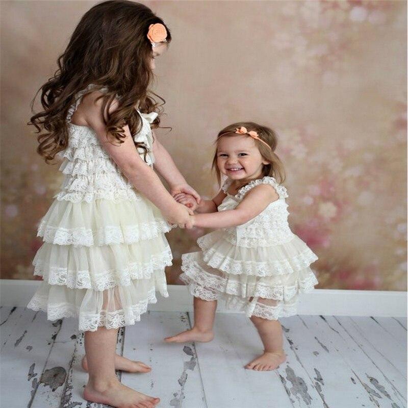 Courageux Robe Pour Fille Bébé Filles Robe Vêtements Nouveau-né Baptême Infantile Dentelle Robes Fleur Enfants Robes Enfants Mariage Une-pièce MatéRiau SéLectionné