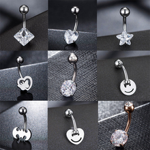 Fashion Hot Sexy Simple Lounger Medical Stainless Steel Belly Button Rings Navel Piercing Women Jewelry
