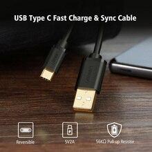 USB Type C Кабель Для Galaxy S8 Плюс S8 + A3 A5 A7 2017, Ugreen USB С Быстрой Зарядки Данных Кабель Мобильного Телефона Зарядное Устройство для OnePlus 3