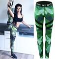 2017 Nova Primavera Das Mulheres Do Exército Verde Impressão Ativo Treino de Fitness Ocasional Slim Leggings Para Moda Feminina Skinny Calças Lápis S-XL
