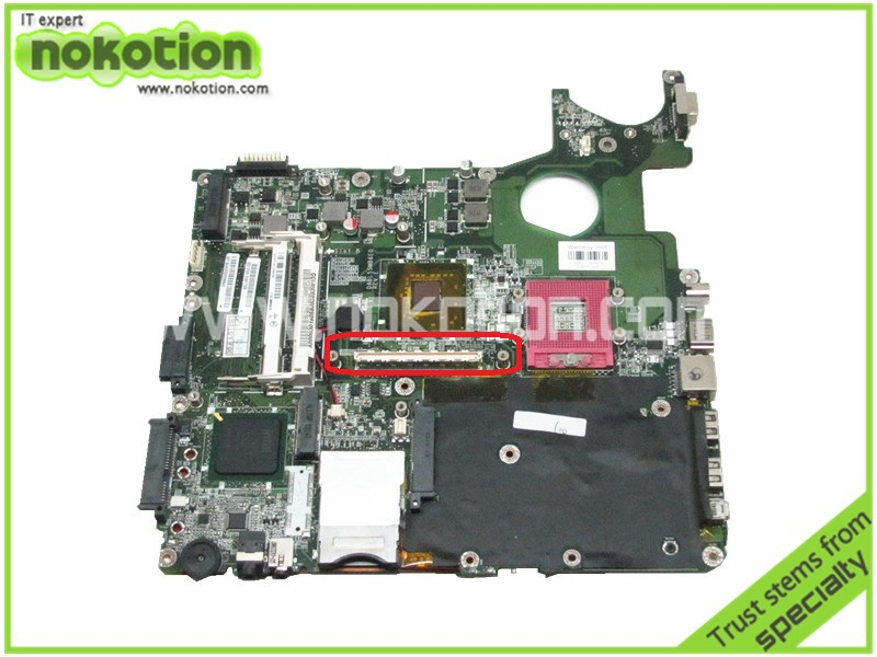 NOKOTION Laptop motherboard for toshiba satellite P300 P350 A000030160 DABL5SMB6E0 REV E PM965 DDR2 with Graphics Slot стоимость