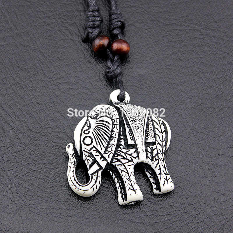 Hot Sale Cool Women Men S Imitation Yak Bone Carved Tibetan Lucky Cute Elephant Pendant Necklace Amulet Gift Mn150 Elephant Pendant Necklace Elephant Pendantpendant Necklace Aliexpress