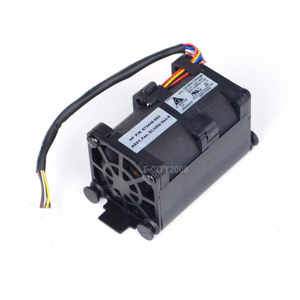 Lot of QTY 2 Genuine HP DL320E G8 675449-001 Server Cooling Fans