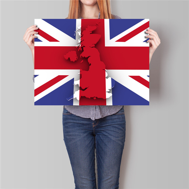 Uk flag country world map poster retro abstract poster print uk flag country world map poster retro abstract poster print picture bar cafe pub home decoration gumiabroncs Gallery