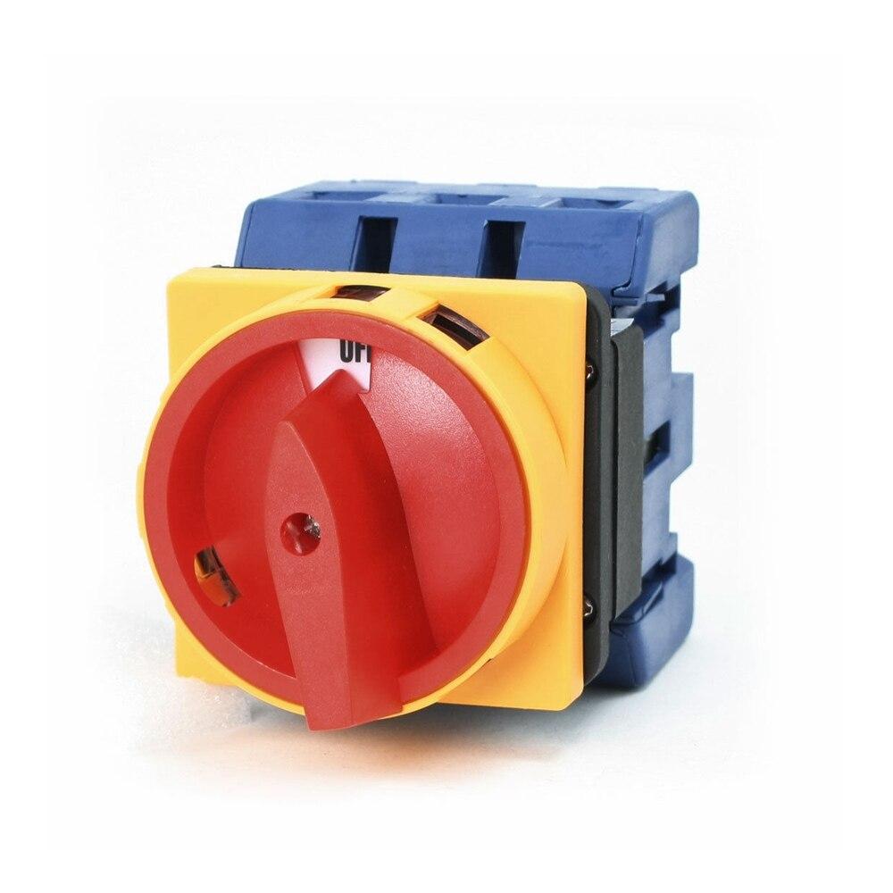 Interrupteur de disjoncteur de charge AC Ui 660 V Ith 100A marche/arrêt 3 pôles 3 Phases 3NO 2 positions commutateur de changement de came rotatif universel
